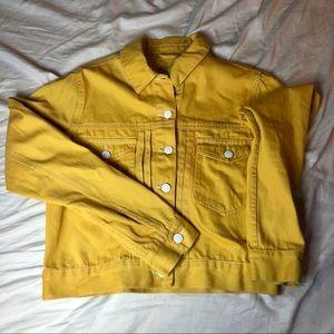 NWT Forever 21 Yellow Denim Jacket